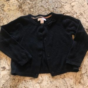 Black Toddler Girls Burberry Cashmere Sweater